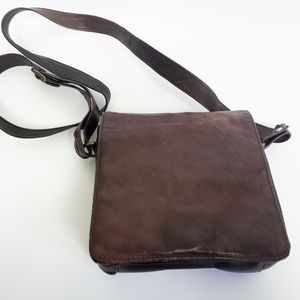 Vintage all leather cross body bag